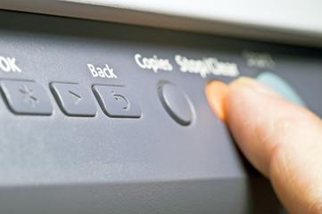 stampante tasti in ufficio