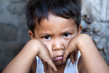 Young Filipino boy - poverty poster