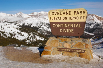 The Continental Divide sign - Berthoud Pass