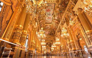 the interior of grand Opera in Paris
