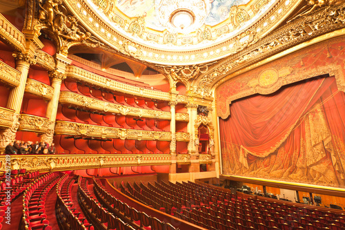 Leinwandbild Motiv the interior of grand Opera in Paris