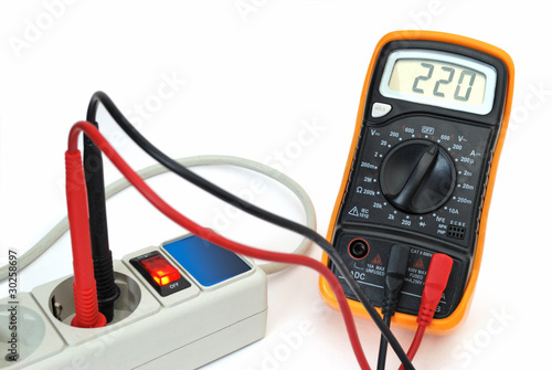 220v voltage on display of multimeter