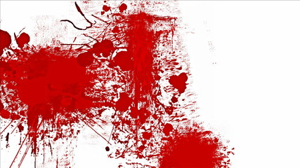 Blood splashes over white background