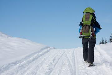 Sur le chemin de neige