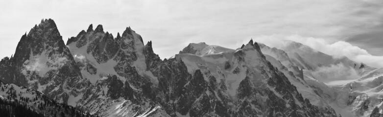 La chaîne du Mont Blanc