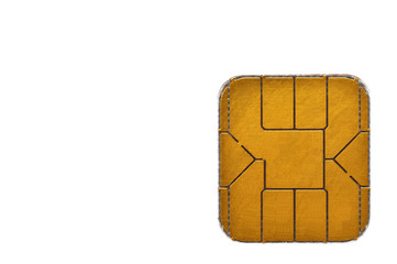 Microchip di una carta di credito, closeup