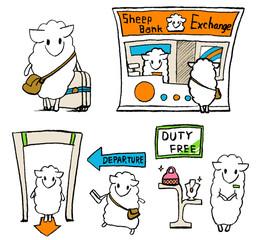 sheep-at-airport