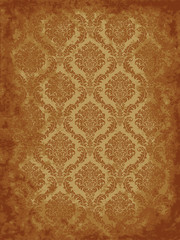 Grunge damask background