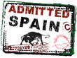 Immigration Stamp - Spain