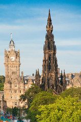 Scott Monument, North British Hotel, Princes Street, Edinburgh