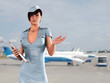 stewardess in airport