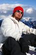 Happy Snowboarder