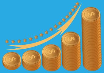 gold coins dollar