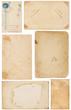 Variety of Vintage Paper Scraps