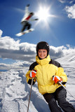 Winter skier poster
