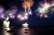 celebration of the new year, firework over the sea - 30275092