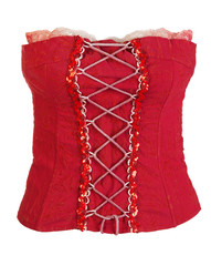red corset female