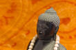 ZEN Buddha schwarz mit Mala-Kette 01