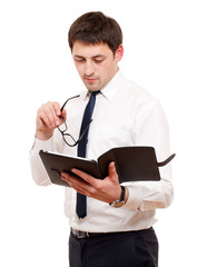 Businessman  with tablet pc.