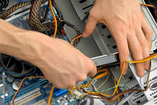 Der Einbau einer Festplatte