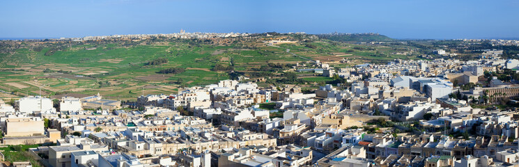 Panoramic view of Malta country