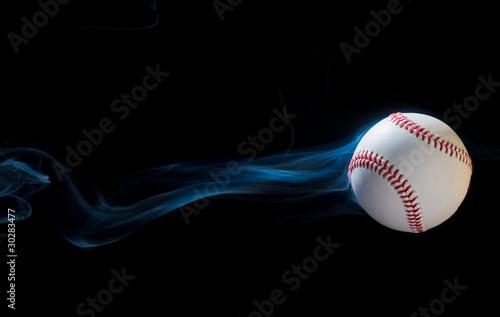 canvas print picture Smoking Baseball