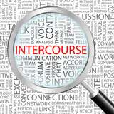 INTERCOURSE. Illustration with different association terms.