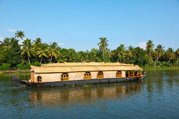 Houseboat on Kerala backwaters, India
