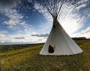Teepee on the Prairie