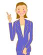 会社員 女性 OL 指差し 教える