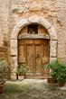 old door in of brick building ....