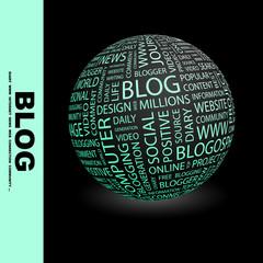 BLOG. Vector word cloud illustration.