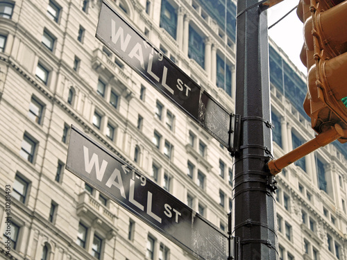 new york city street signs. Wall street signs in New York