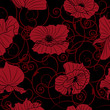 seamless background with poppies