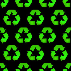 Seamless recycle background.