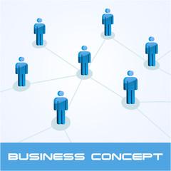 Network business concept. Vector illustration.