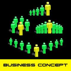 Leader. Team business concept. Vector illustration.