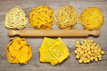 Trionfo di pasta fresca fatta a mano