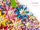 sweet eatable flowers background poster