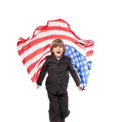 enfant pays usa drapeau patriote campagne élection américain