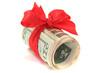 Dollarscheine mit Schleife