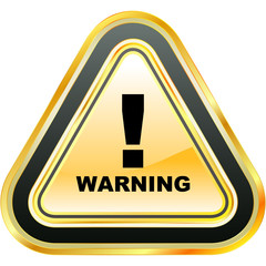 Warning sign. Vector template.