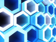 Blue frame hexagons