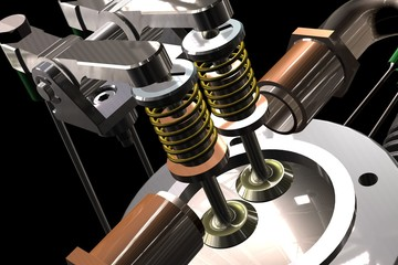 Radial aircraft engine render picture