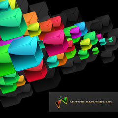 Abstract background with colorful boxes