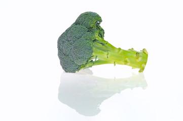 Brocoli, Brassica oleracea italica aislado.