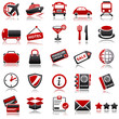 transportation Red Icons