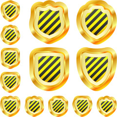Shields. Vector set.