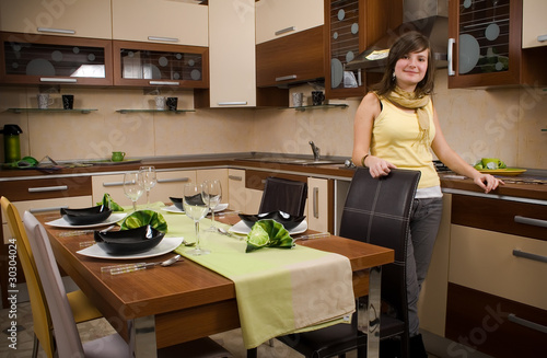 woman in her kitchen