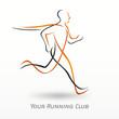 logo sport, running club